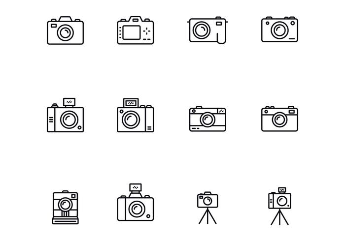 Camera Thin Icons