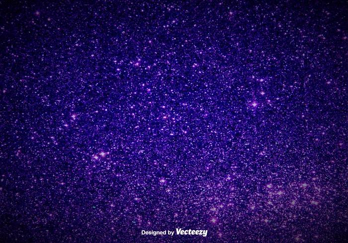 Elegant Purple Magic Dust Background - Vector Glowing Pixie Dust
