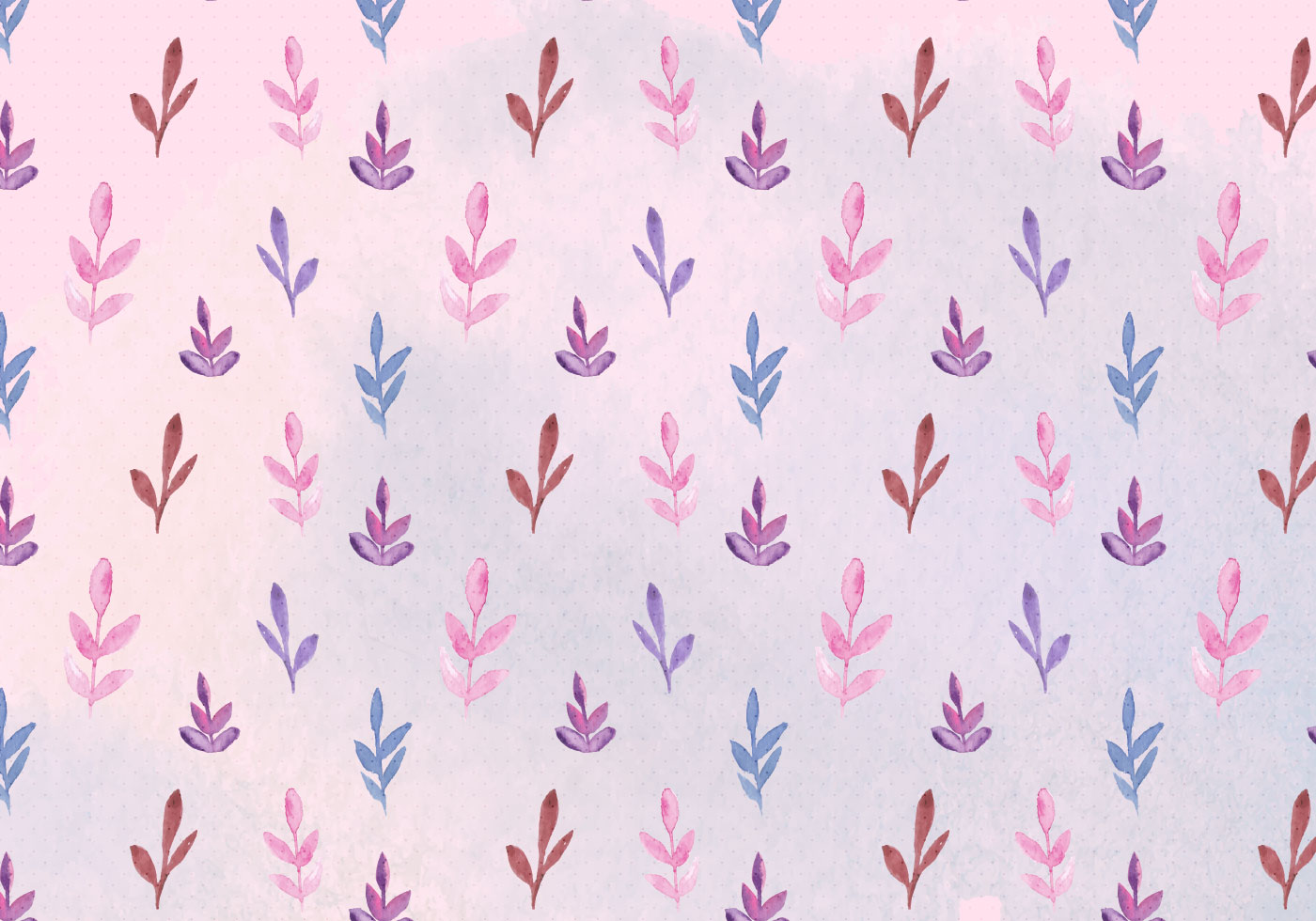 Free Vector Watercolor Leaves Pattern Download Free