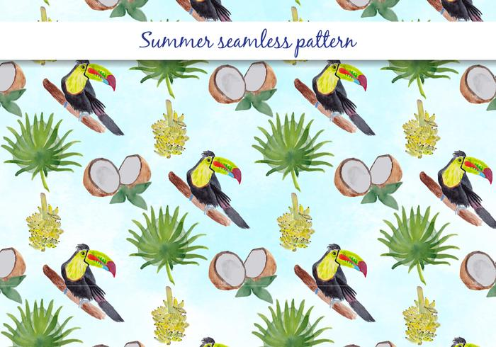 Tropical Vector Summer Seamless Pattern