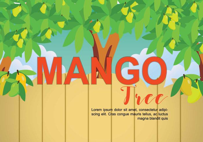 Mango Tree Illustration vector