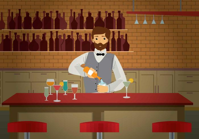 Barman Illustration vector