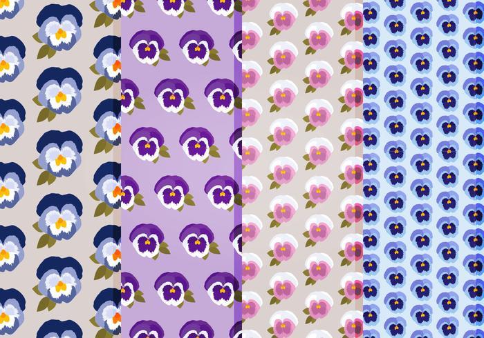 Pansies Vector Patterns