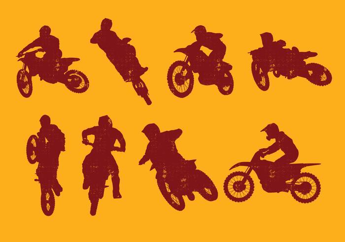 Schmutzfahrräder Silhouette