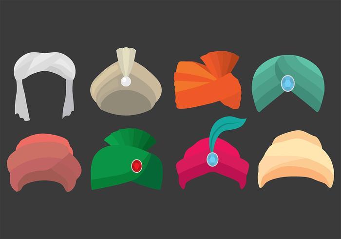Iconos Turbante vector