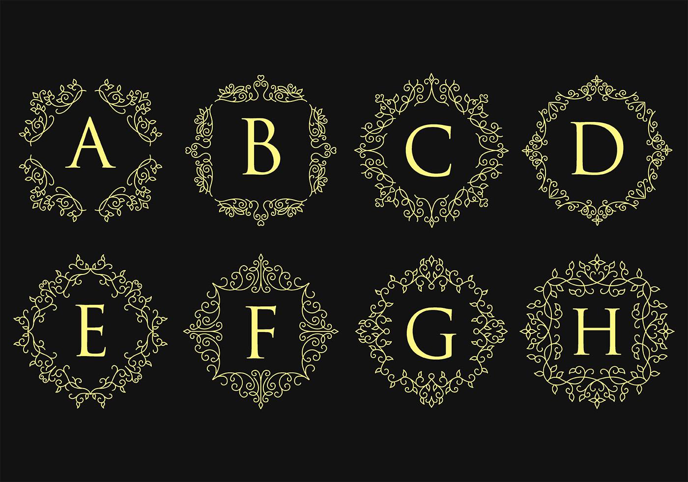 Monograms Free Vector Art - (14,181 Free Downloads)