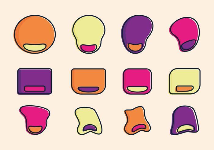 Vector illustratie van de muisstootkussen