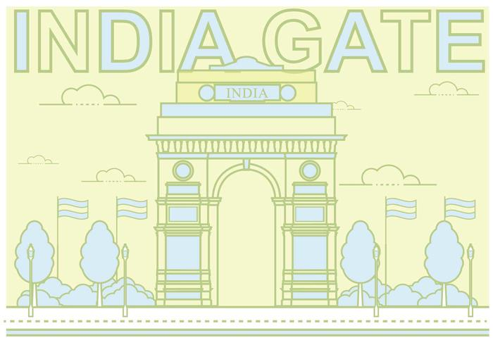 Free India Gate Illustration vector