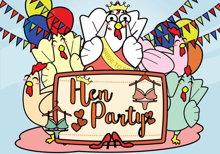 Kostenlose Hen Party Illustration vektor