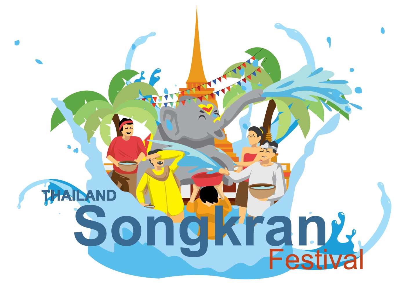 Illustration gratuite de Songkran - Telecharger Vectoriel Gratuit ...