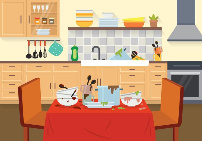 Dirty Dishes Illustration