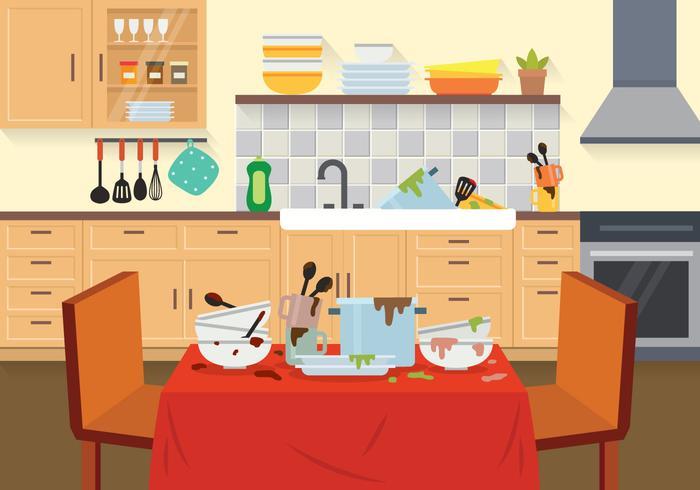 Kostenlose schmutzige Gerichte Illustration