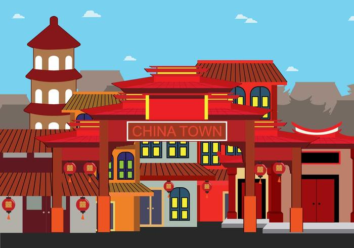 China Town Illustration vector