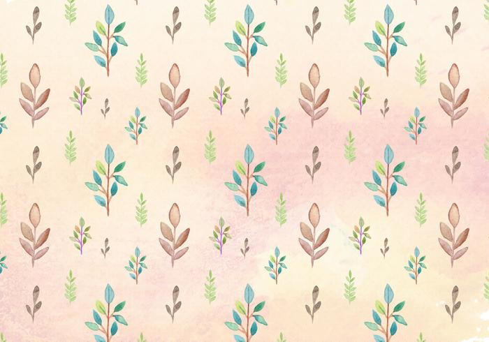 Free Vector Watercolor Leaves Pattern