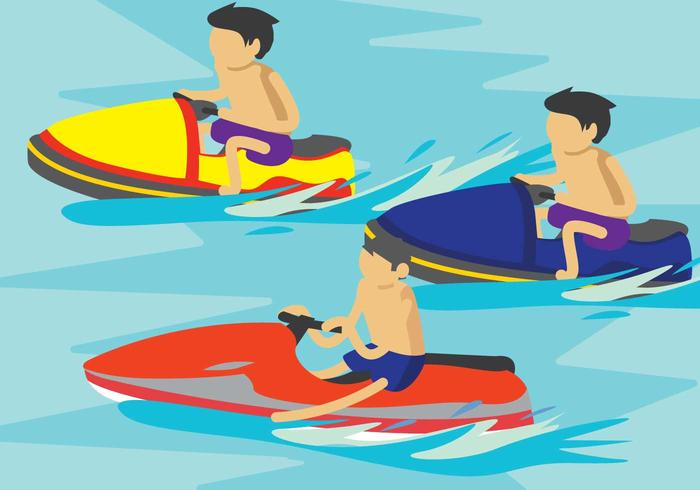 Free Jet Ski Illustration