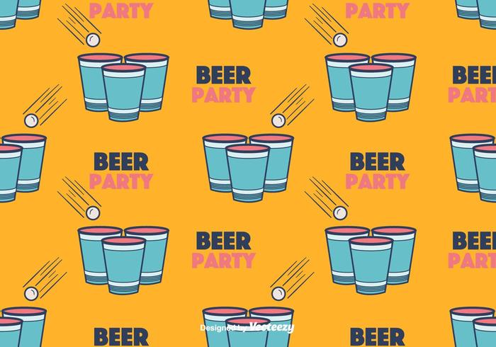 Cerveza Pong Vector Patrón