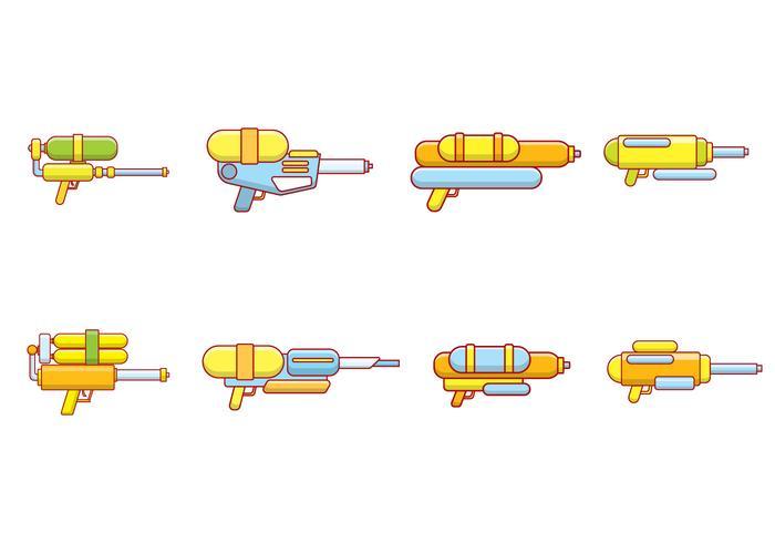 Vector de armas de agua
