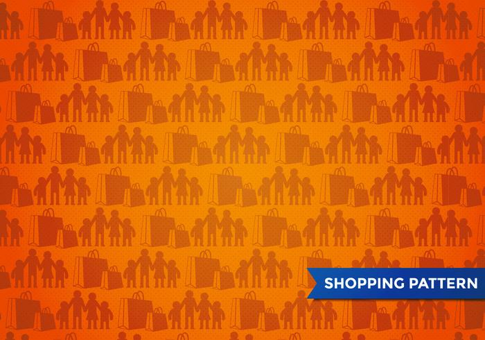 Family Shopping Pattern Vector