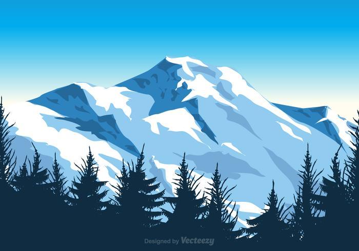 Gratis Vector Mount Everest Illustratie