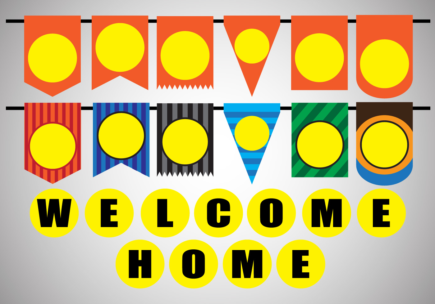 Vector stock decoration of welcome home party download Home decoration vector free
