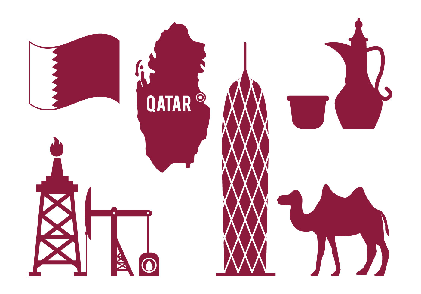 Qatar vector download free vector art stock graphics for Clipart to download for free
