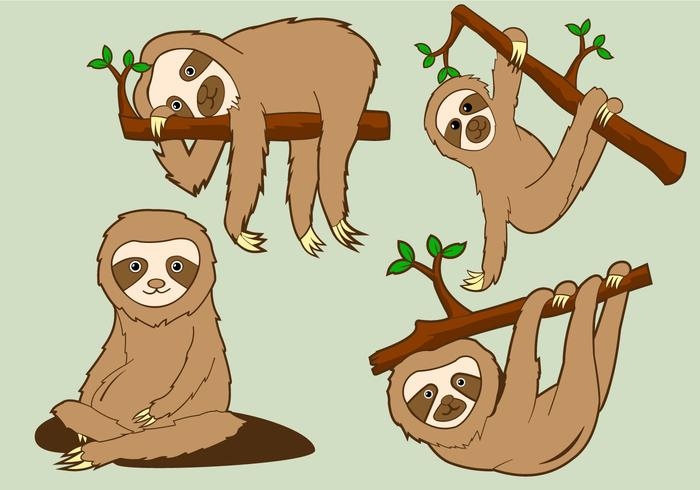 Funny Sloth Pose Illustration