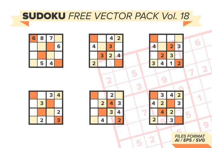 Pacote de vetores grátis sudoku vol. 18