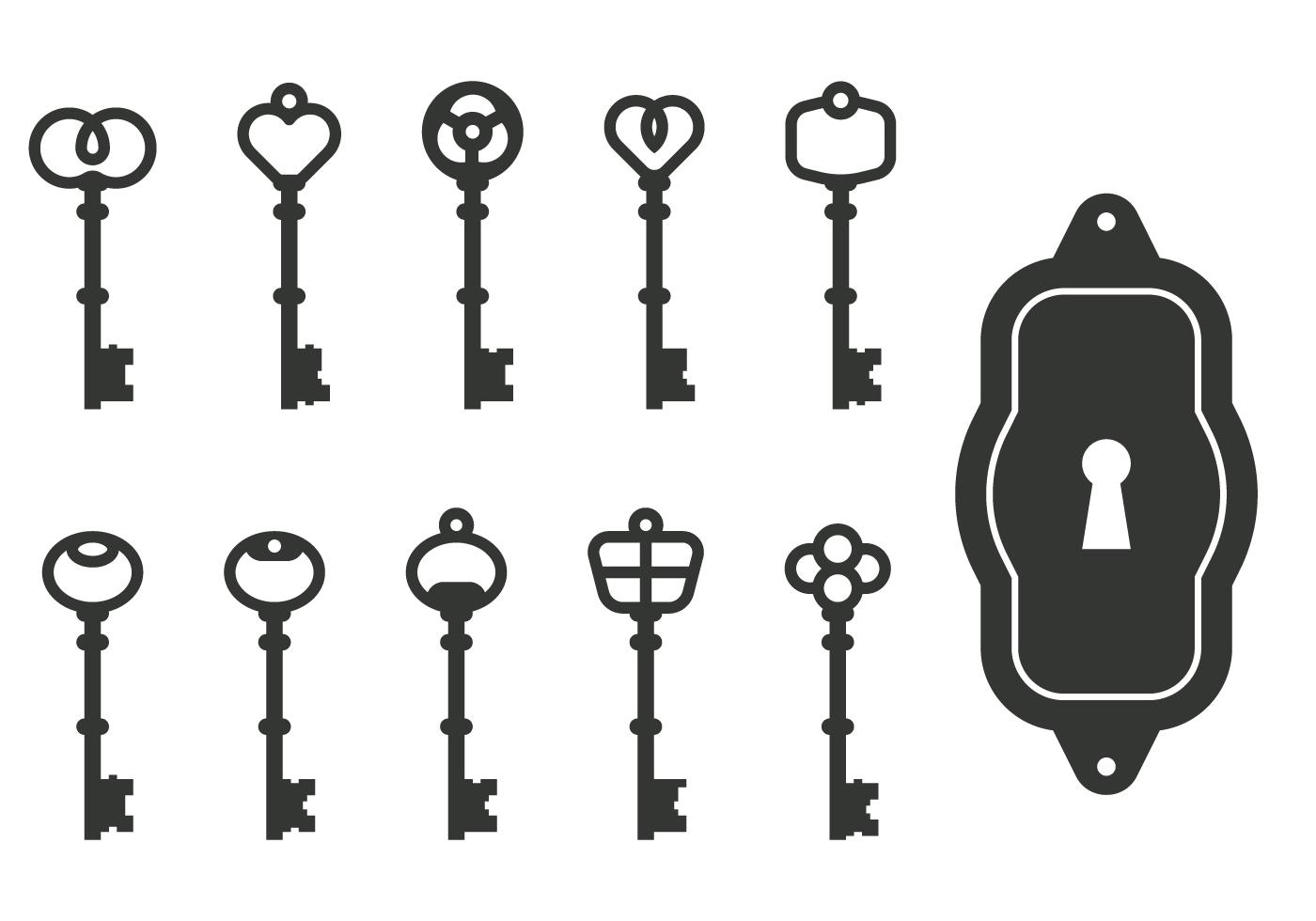 Classic Key Vectors - Download Free Vector Art, Stock ...
