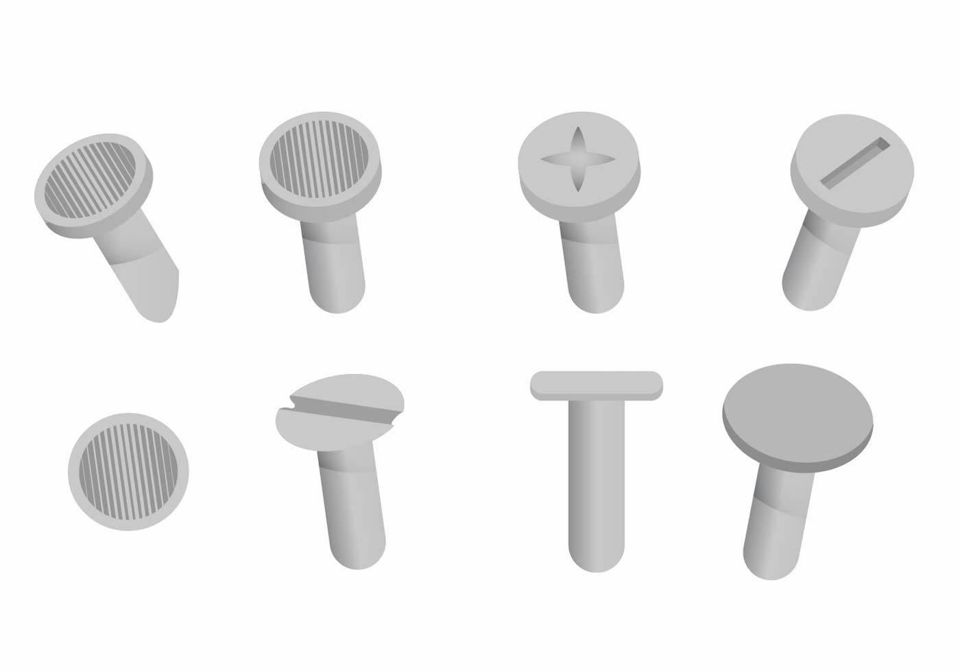 Nagel Hoofd Vector Set - Download Gratis Vectorkunst En Andere Vectorafbeeldingen