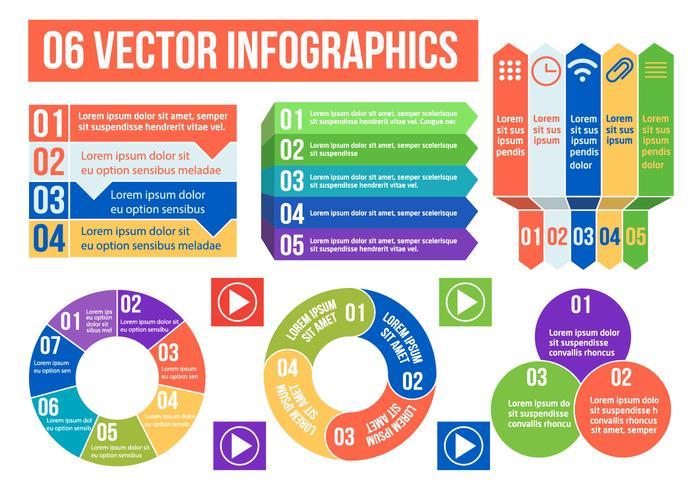 Illustration d'infographies vectorielles gratuites