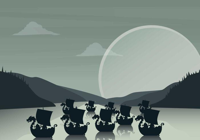 Gratis Viking Ship Illustration