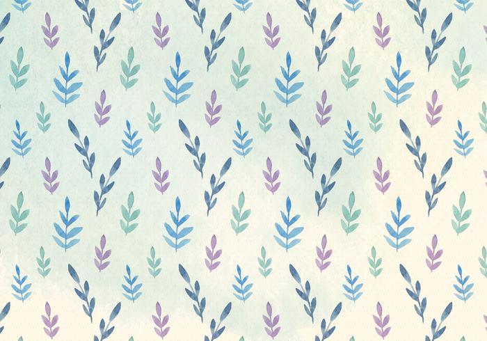 Free Vector Watercolor Leaves Pattern