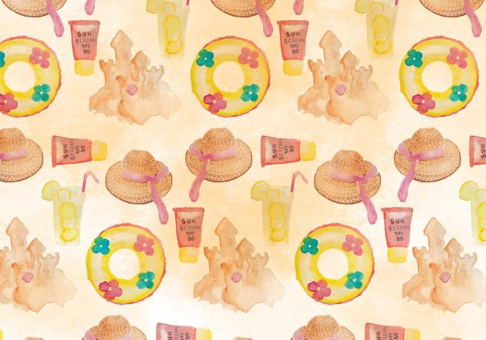 Summer Seamless Beach Pattern