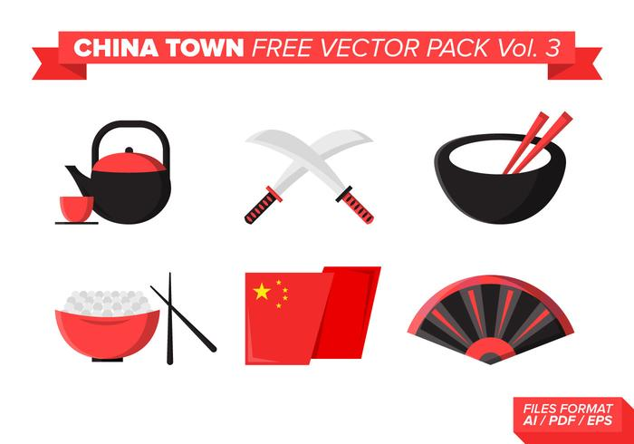 China Town Free Vector Pack vol. 3
