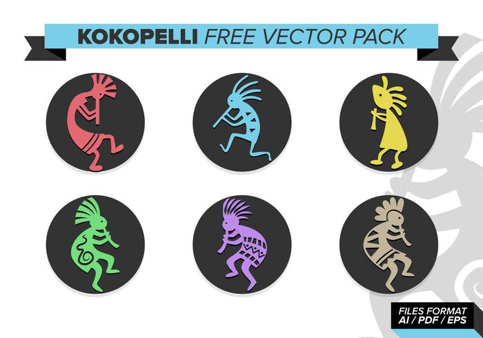 Kokopelli Free Vector Pack
