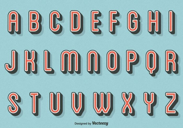Free Vector Retro Buchstaben