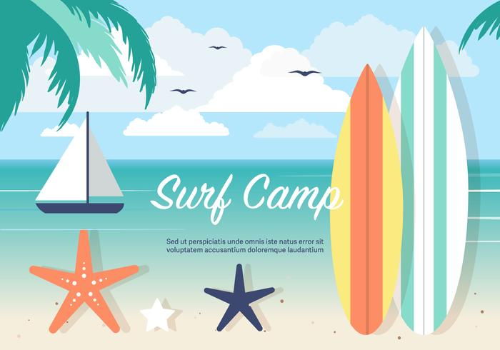 Free Surf Camp Vector Background