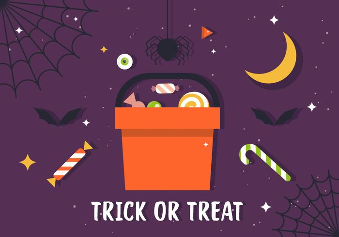 Gratis Truc of Behandel Candy Illustratie vector