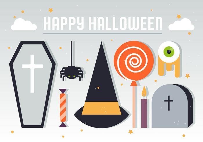 Halloween element vektor illustration