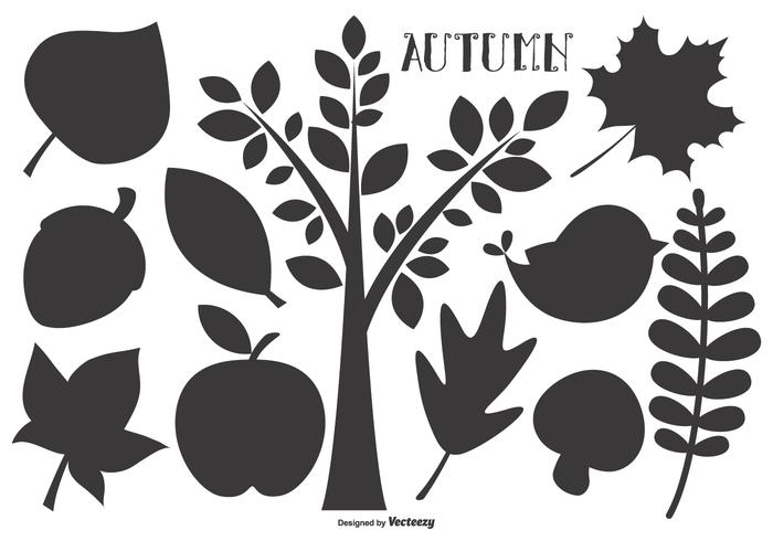 Herbst-Vektor-Formen