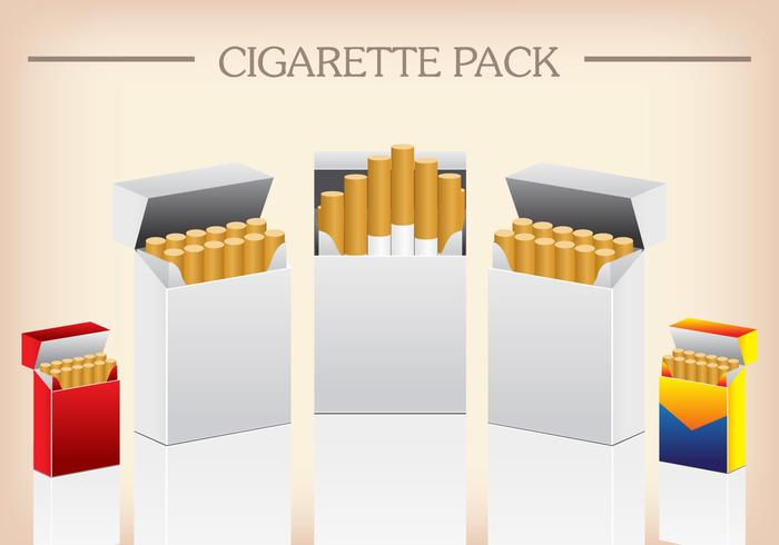Vector Template Pack Package Box of Cigarettes