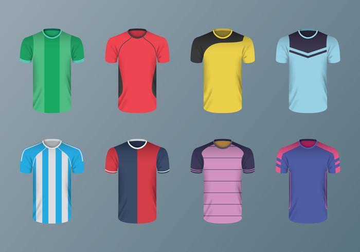 Gratis fotbollskjorta vektorer