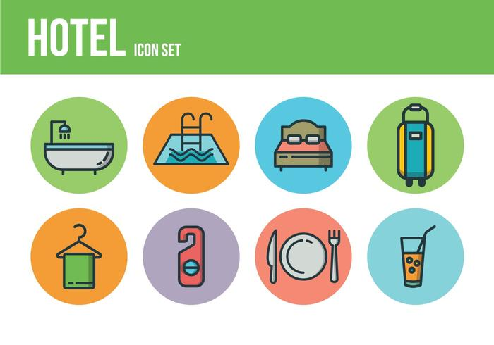 Free Hotel Icons vector