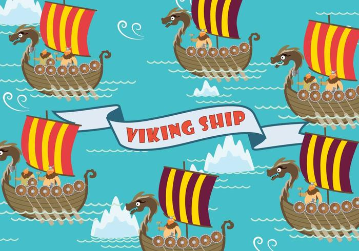 Free Viking Ship Illustration