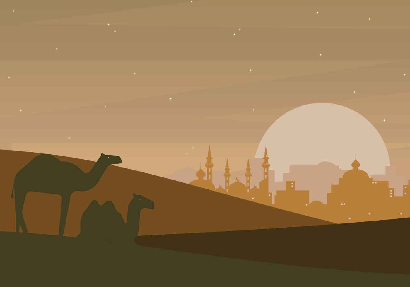 free arabian night illustration