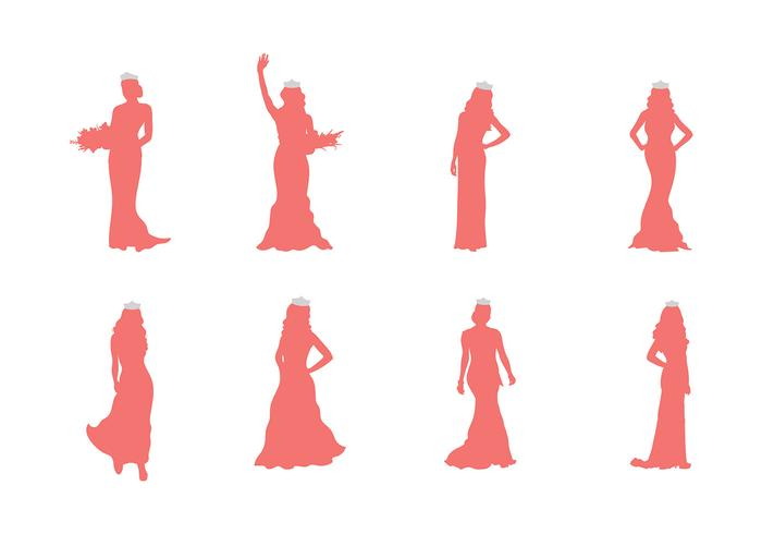 Pageant Silhouette Vector
