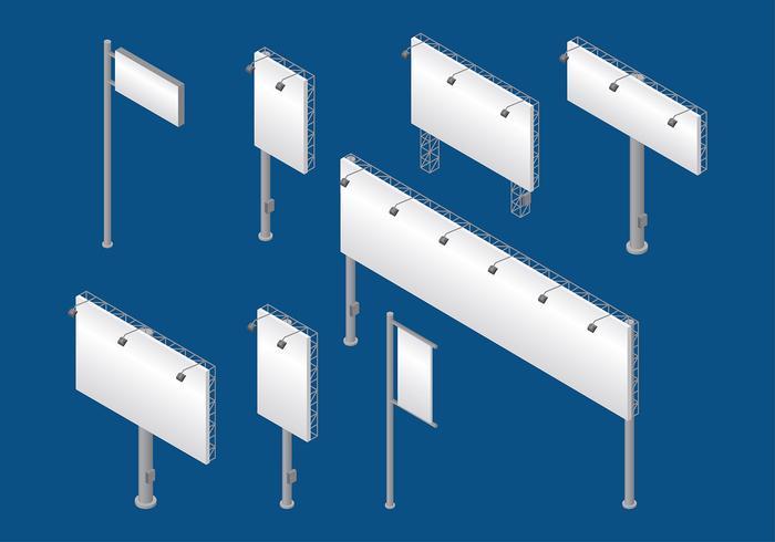 Hoarding Isometric Vector