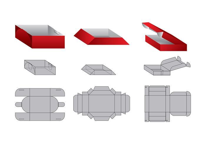 Die Cut Trays Vector