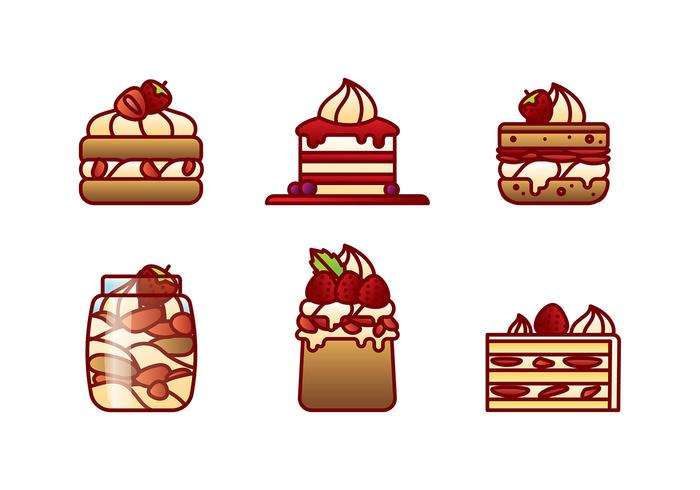 Strawberry Shortcake Flat Vector