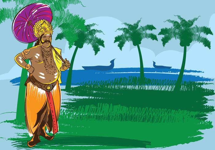 Onam festival illustration